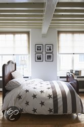 Dekbedovertrek Riviera Maison Long Island – Taupe – Lits-jumeaux (240×200/220 cm + 2 slopen)