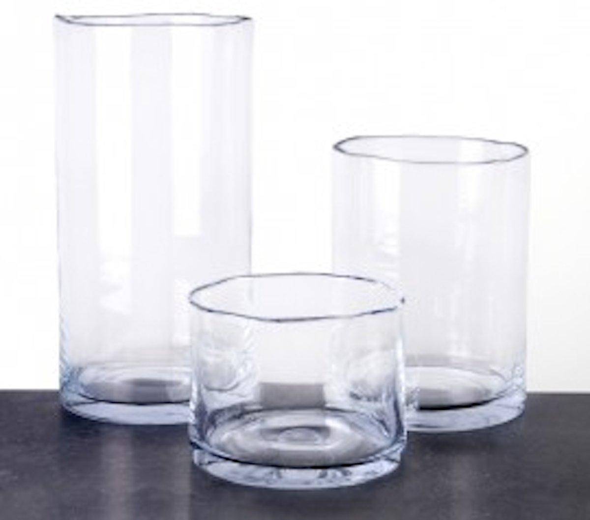 Maison Péderrey – Vaas – Cilinder vaas – Glas – Mond geblazen glas