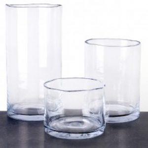 Maison Péderrey – Vaas – Cilindervaas  – Glas  – Mond geblazen glas –  7 mm dik glas