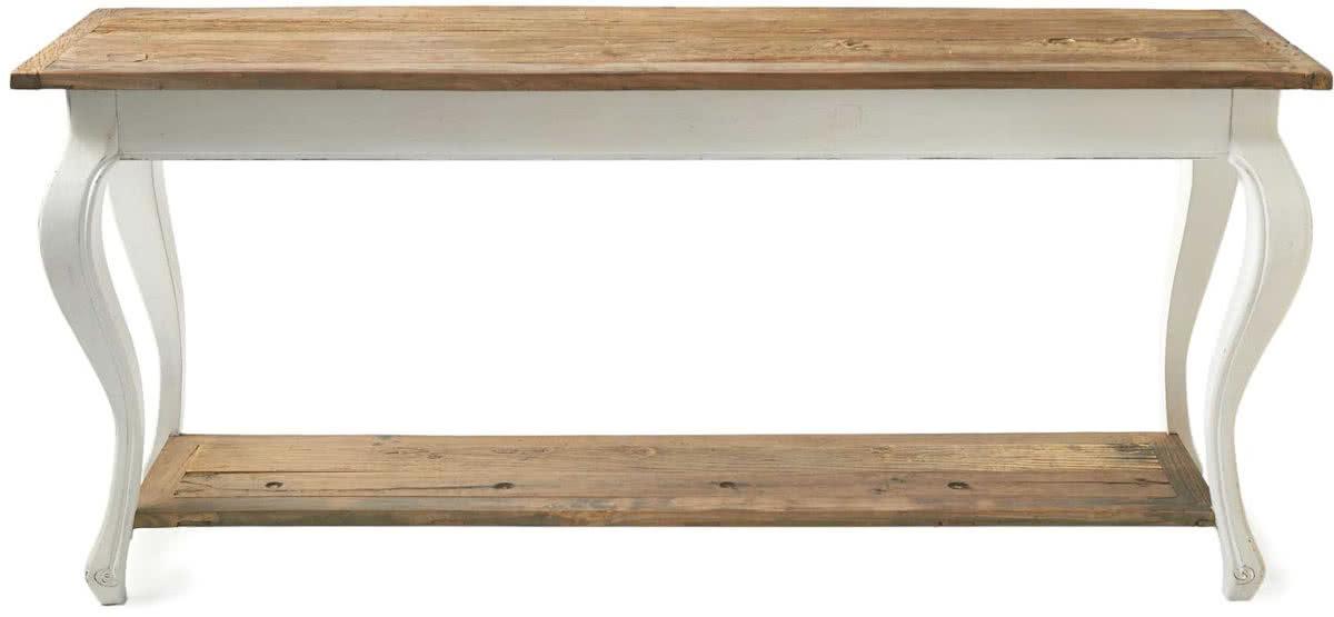 Rivi ra Maison Driftwood Side Table – Bijzettafel – 180 x 50 x 80 cm – Wit/Hout