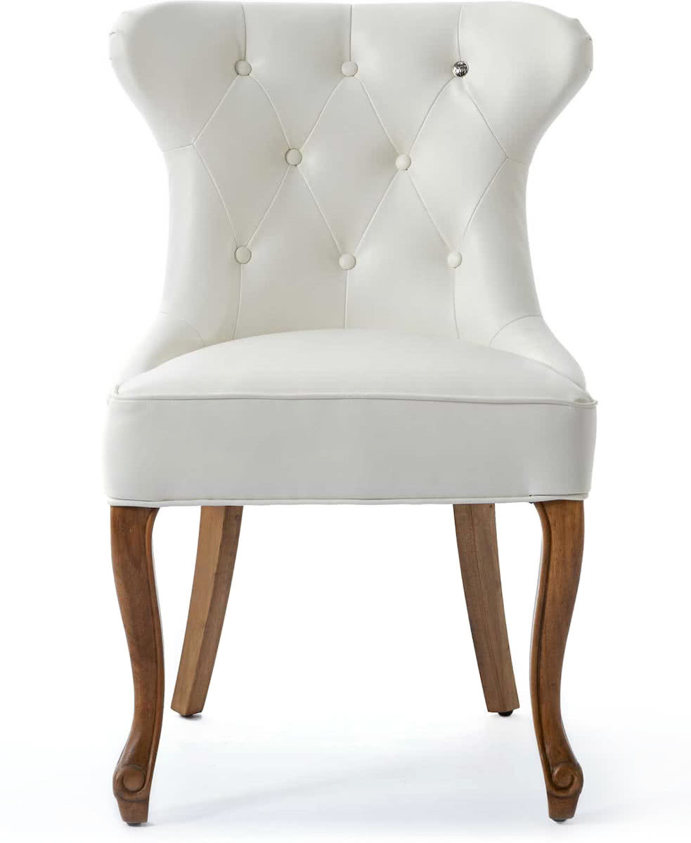 Rivi ra Maison George Dining Chair – Eetkamerstoel – Wit – Pellini Leer