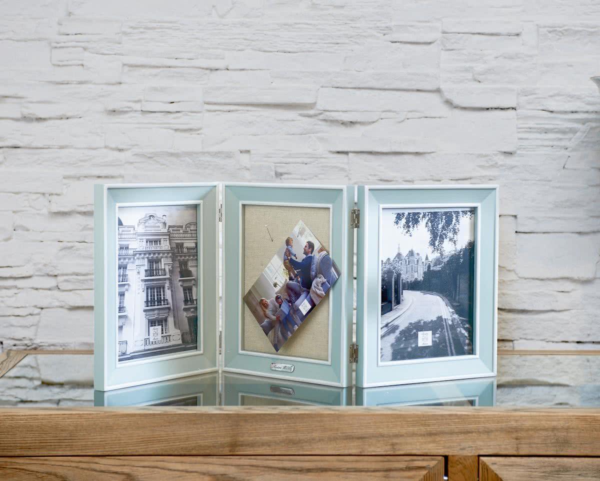 Rivi ra Maison – Happy Memories Triple Photo Frame – Fotolijst – Lichtblauw – Hout