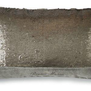 Rivi ra Maison – Magic Velvet Sequins Pillow Cov 50×30 – Sierkussen – Zilver – Katoen