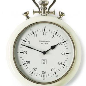 Riviera Maison 1948 RM Clock – Wandklok – Wit
