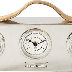 Riviera Maison Ambassador World City Clock – Wandklok – Zilverkleurig