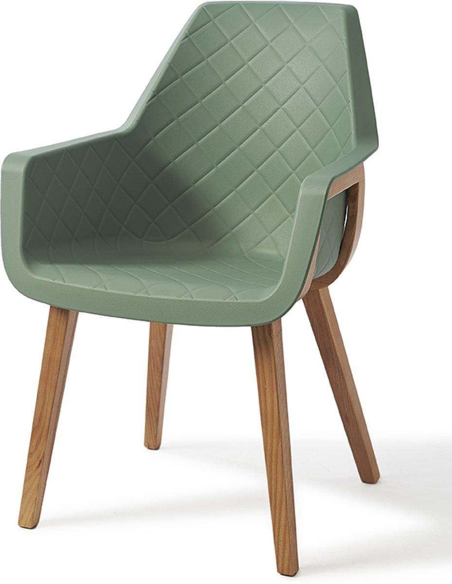 Riviera Maison Amsterdam City Dining Chair – Green – Eetkamerstoel