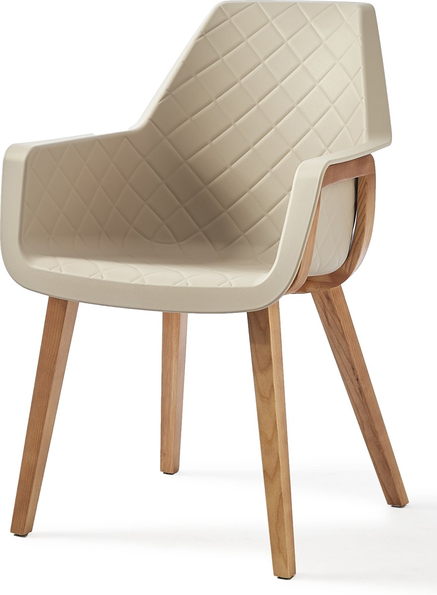 Riviera Maison Amsterdam City Dining Chair – Taupe – Eetkamperstoel