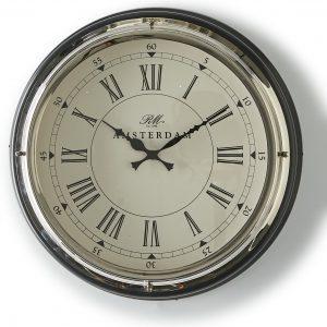 Riviera Maison – Amsterdam Clock – Klok – Staal
