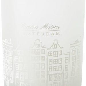 Riviera Maison – Amsterdam Votive – Waxinelichtjeshouder – Wit – Glas