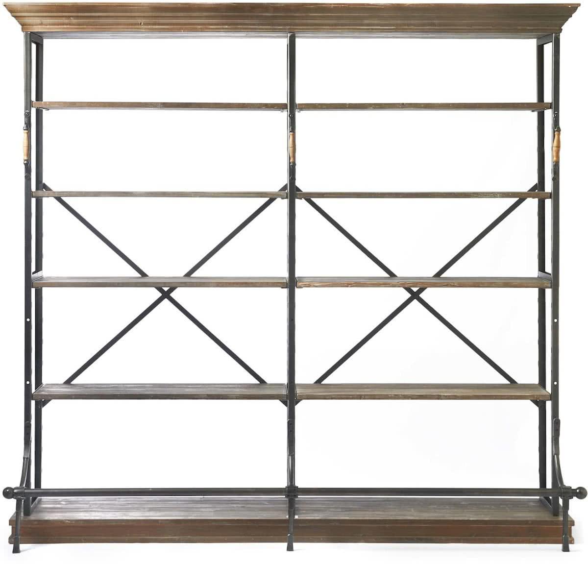 Riviera Maison Balthazar Cabinet Double – Boekenkast – Aluminium/Hout