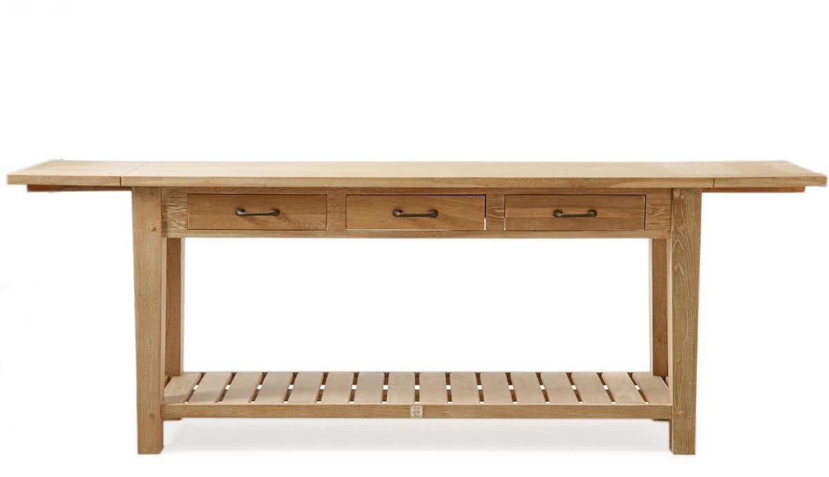 Riviera Maison Beacon Hill Side Table – Bijzettafel – 220 x 45 cm – Washed Oak