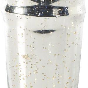 Riviera Maison – Bergdorf Votive – Waxinelichtjeshouder – Zilver – Glas