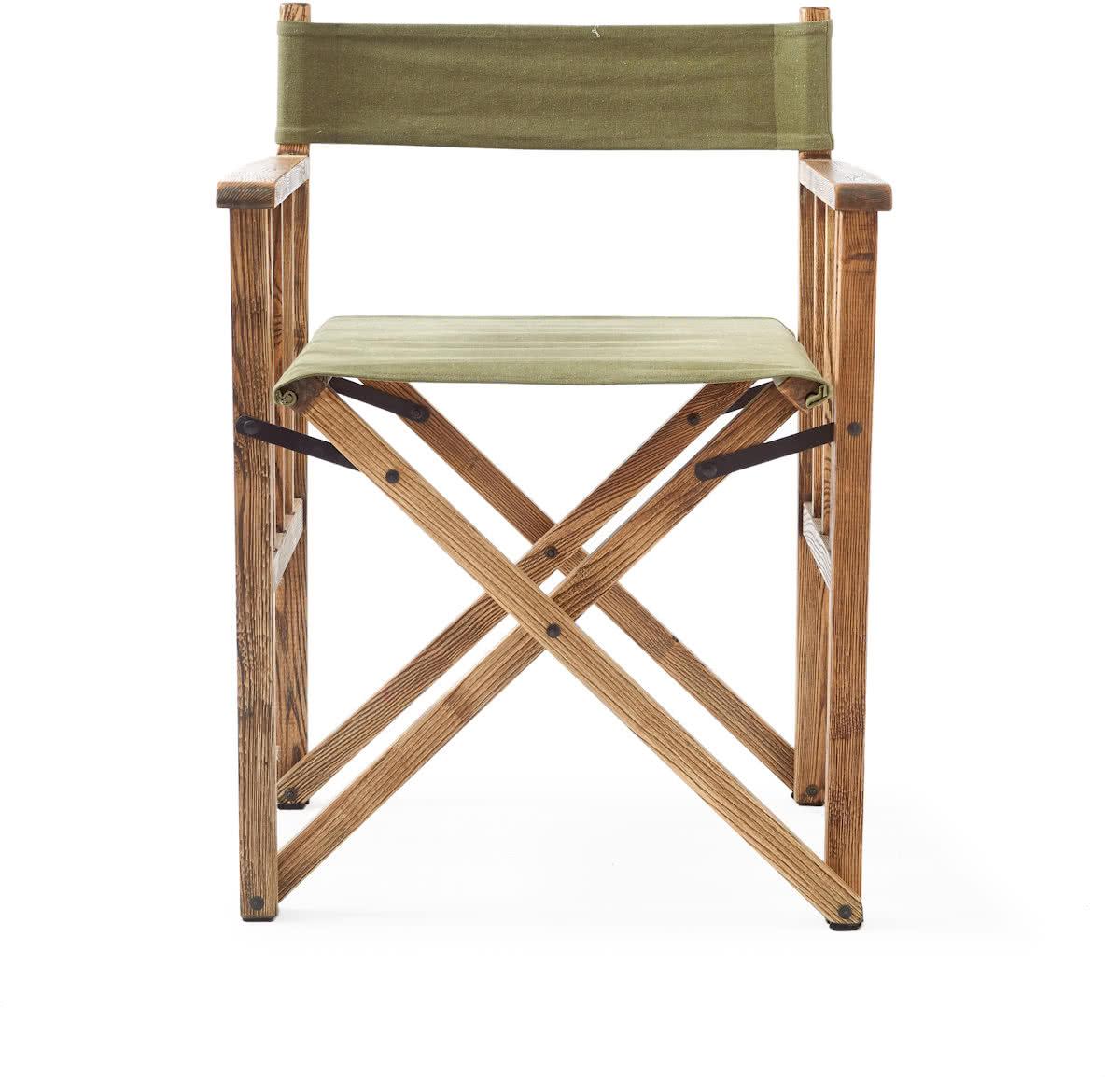 Riviera Maison Blixen Director Chair – Green – Eetkamerstoel