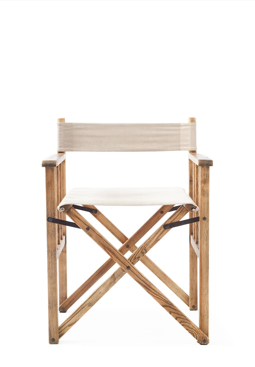 Riviera Maison Blixen Director Chair – Grey – Eetkamerstoel