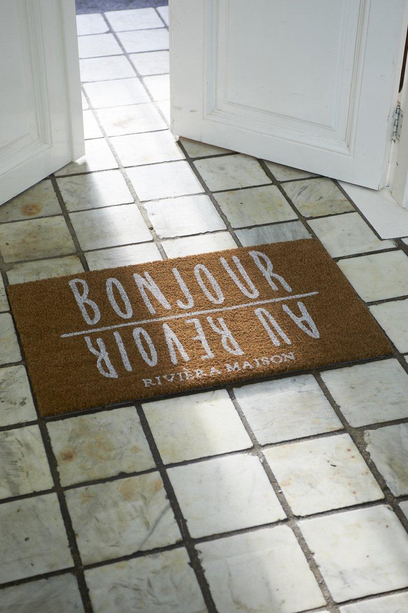 Riviera Maison Bonjour Au Revoir Doormat – Deurmat – Kokos