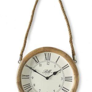 Riviera Maison – Braderup Clock – Klok – Hout/creme