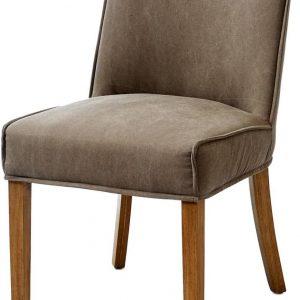 Riviera Maison Bridge Lane Dining Chair – Eetkamerstoel – Mauve – Katoen/Hout