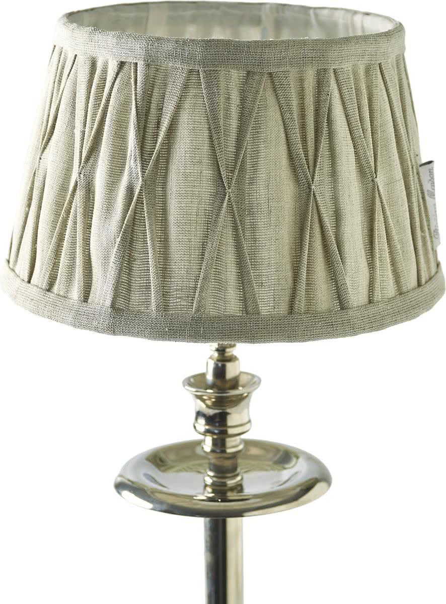 Riviera Maison Cambridge Lamp Shade – Lampenkap – Bruin – 15 x 20 cm – Linnen