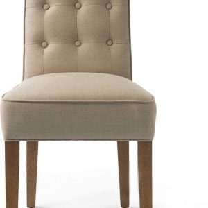 Riviera Maison Cape Breton Dining Chair – Eetkamerstoel – Flax – Linnen/Hout