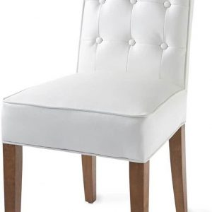 Riviera Maison Cape Breton Dining Chair – Eetkamerstoel – Wit – Leer/Hout