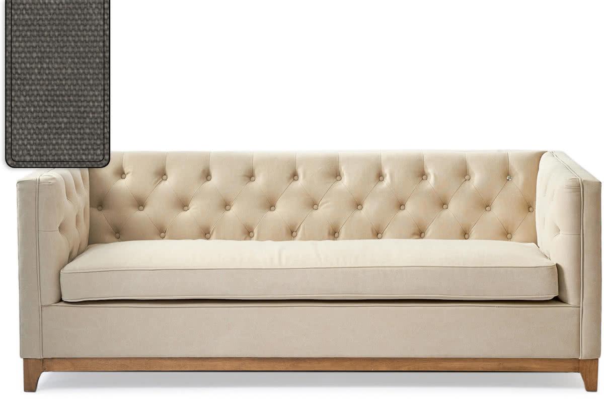 Riviera Maison Central Park Sofa – 3-zitsbank – Grafiet/Hout