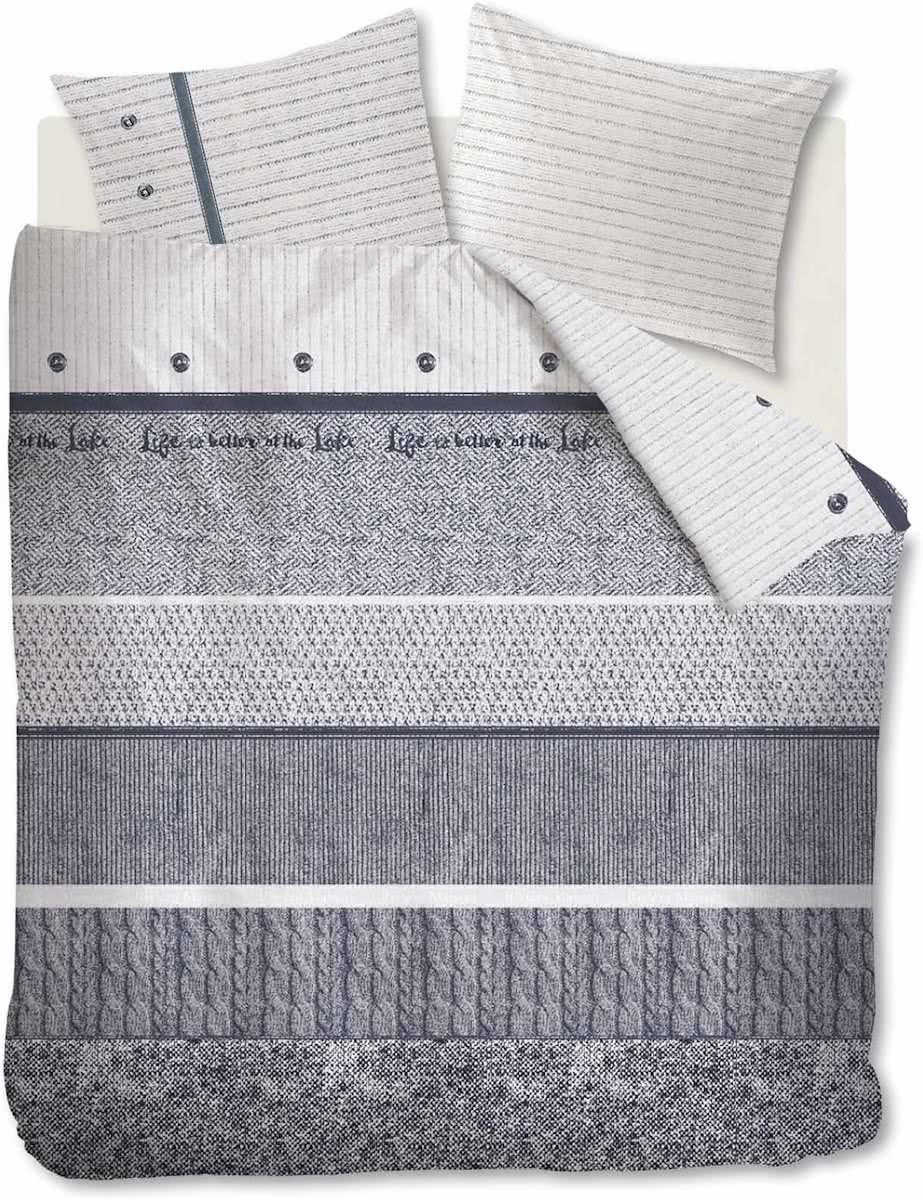 Riviera Maison Champlain – Dekbedovertrek – Lits-jumeaux – 260×200/220 cm – Taupe