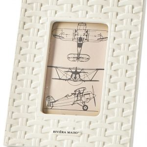 Riviera Maison – Classic Braided Photo Frame 10×15 – Fotolijst – Wit – Porselein