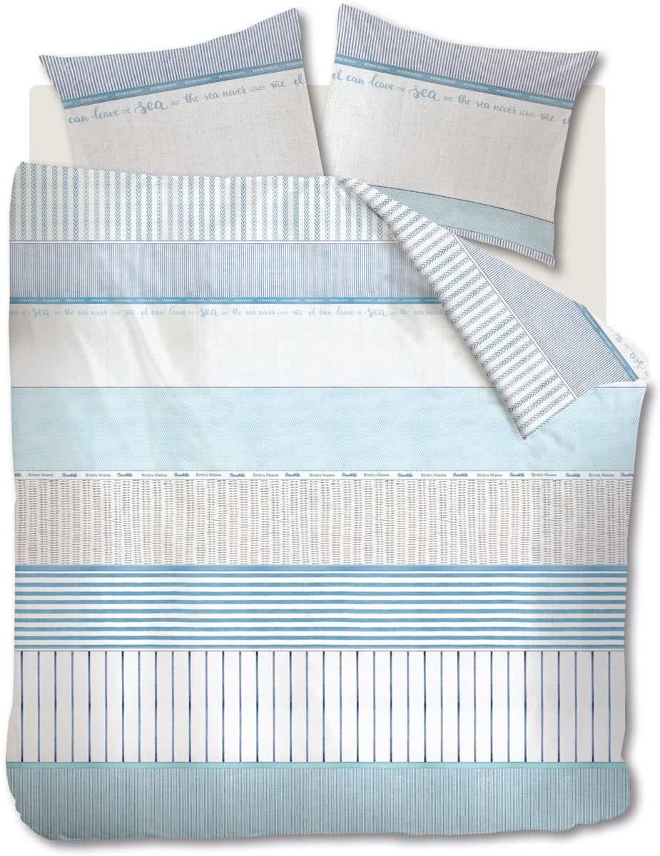 Riviera Maison Corniche – Dekbedovertrek – Eenpersoons – 140×200/220 cm – Blauw