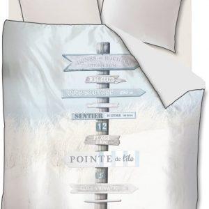 Riviera Maison Cote Sauvage – Dekbedovertrek – Eenpersoons – 140×200/220 cm – Mint Groen