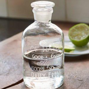 Riviera Maison Daily Fresh Water Bottle – Decoratieve Fles – Transparant