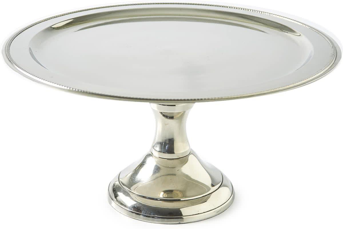 Riviera Maison – Dorchester Cake Stand L – Decoratieve schaal – zilver – Aluminium