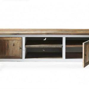 Riviera Maison Driftwood Flatscreen Side Table – TV meubel – 180 x 45 x 65 cm – Wit/Hout