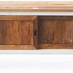 Riviera Maison Driftwood Flatscreen Side Table – Tv meubel – 120 cm – Wit/Hout