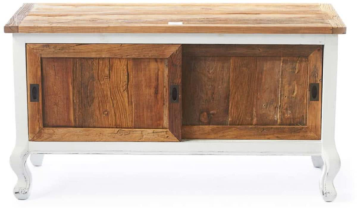 Riviera Maison Driftwood Flatscreen Side Table – Tv meubel – 120 cm – Wit/Hout