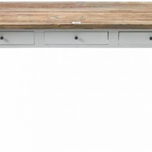 Riviera Maison Driftwood Office Desk – Bureau – 160 x 80 cm – Wit/Hout