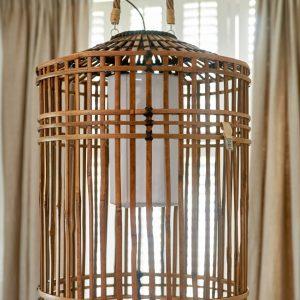 Riviera Maison – Es Cubells Hanging Lamp L – Hanglamp – Naturel – Rattan