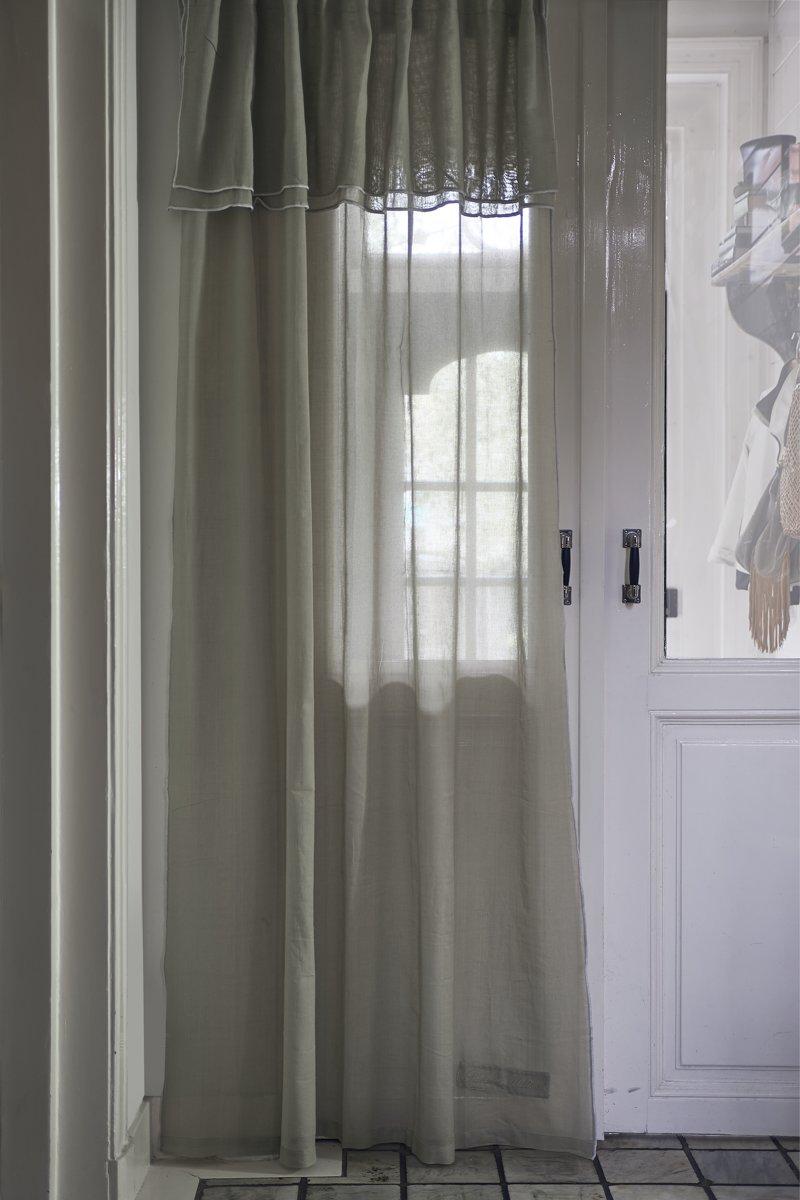 Riviera Maison Fancy Frill Curtain – Gordijn – 140×270 – flax – Katoen