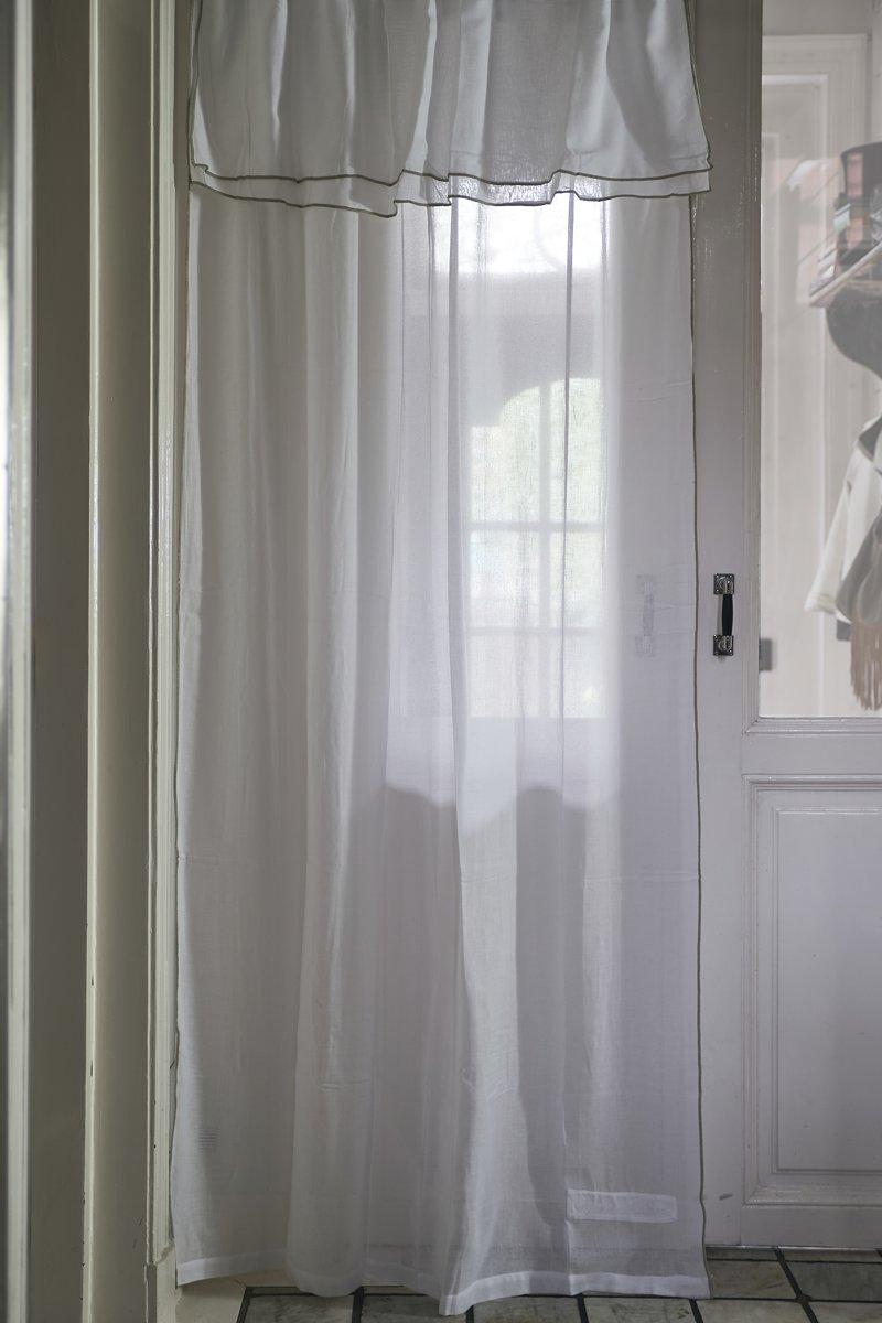 Riviera Maison Fancy Frill Curtain – Gordijn – 140×270 – wit – Katoen