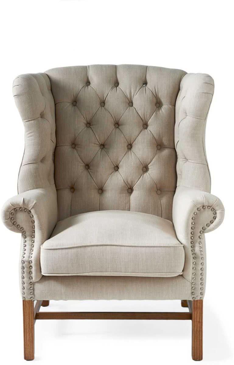 Riviera Maison Franklin Park Wing Chair – Fauteuil – Flax – Linnen