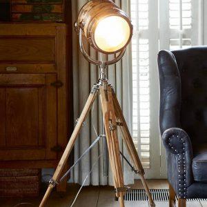 Riviera Maison Hollywood Studio – Staande Lamp – Bruin