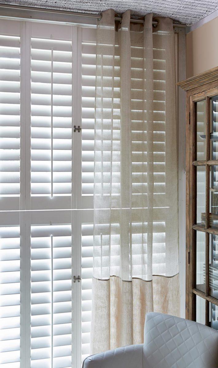 Riviera Maison Long Island – Gordijn – 140 x 270 cm – Flax