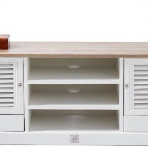 Riviera Maison Long Key Flatscreen Dresser – TV-meubel – 180 cm- Grijs/Wit