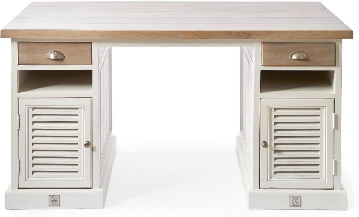 Riviera Maison Long Key Office Desk – Bureau – 150 x 80 cm – Grijs/Wit