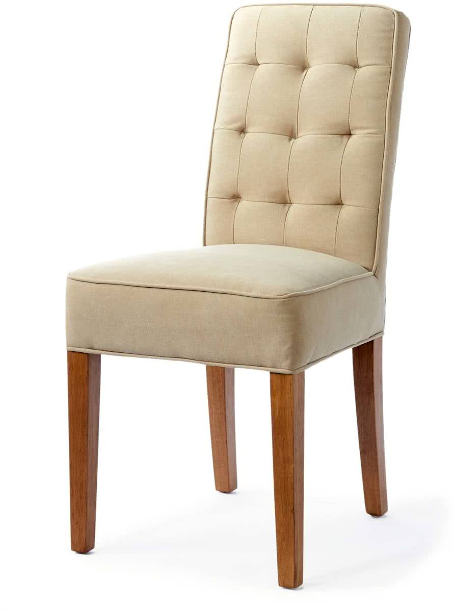 Riviera Maison Madison Dining Chair – Eetkamerstoel – Sandkleur – Linnen