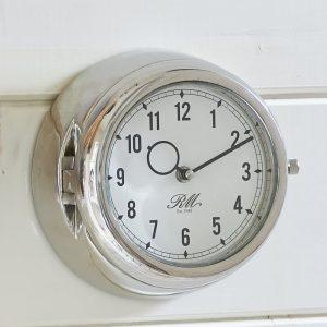 Riviera Maison – Marseille Clock – Klok – Aluminium/creme