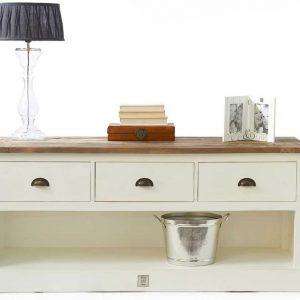 Riviera Maison Newport Flatscreen Dresser – TV-meubel – 150 cm – Wit/Hout