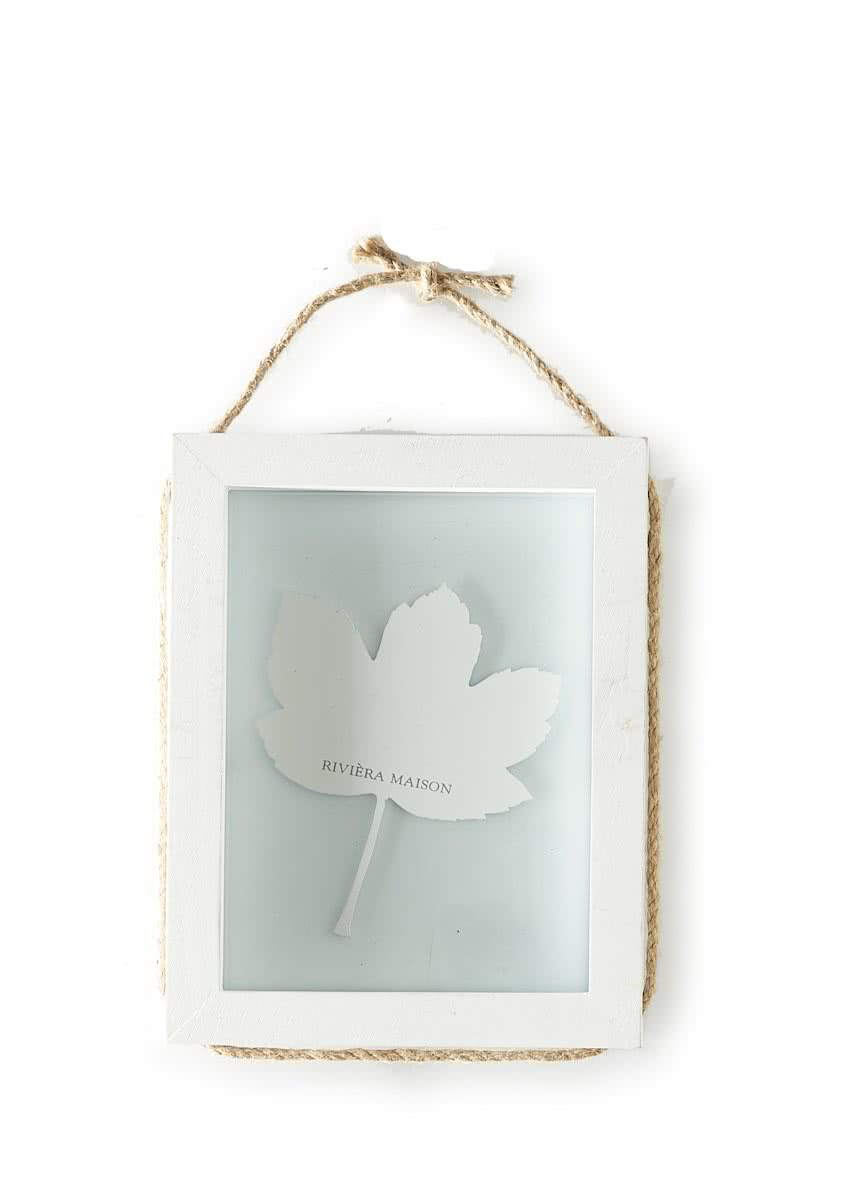 Riviera Maison – Pretty Leaf Photo Frame M – Fotolijst – Wit – Hout