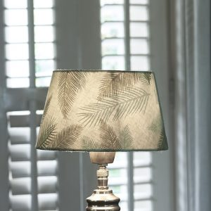 Riviera Maison Pure Leaf Lampshade – Lampenkap – 15×20 – groen – Katoen
