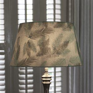 Riviera Maison Pure Leaf Lampshade – Lampenkap – 28×38 – groen – Katoen