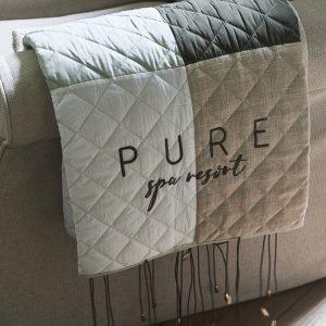 Riviera Maison  Pure Patchwork Throw – Plaid – 180×130 – Katoen